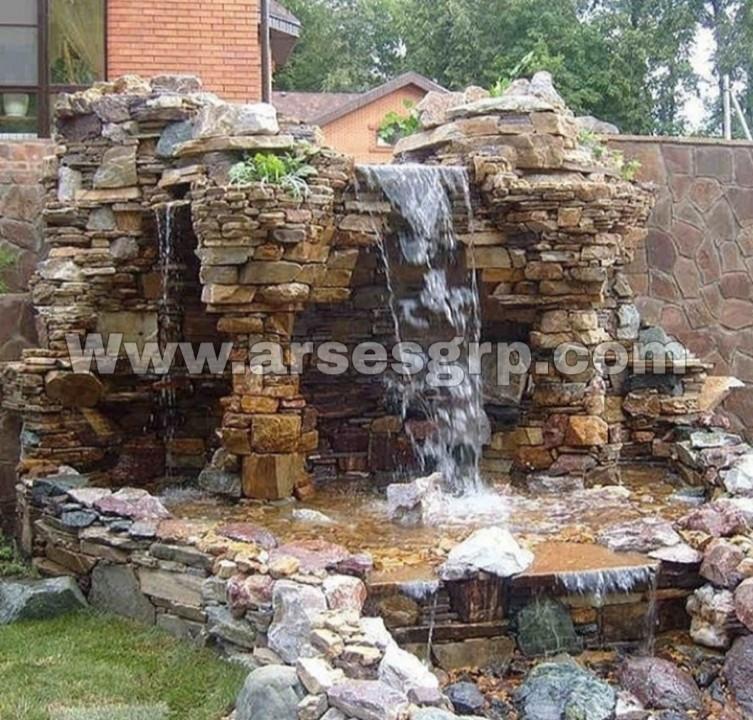 ساخت آبنما صخره ای