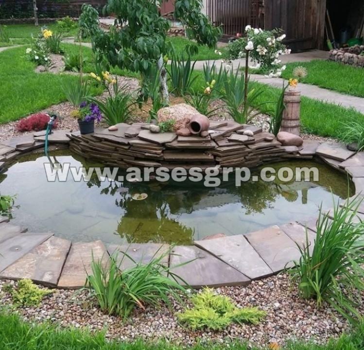 ساخت آبنما مدرن در باغ