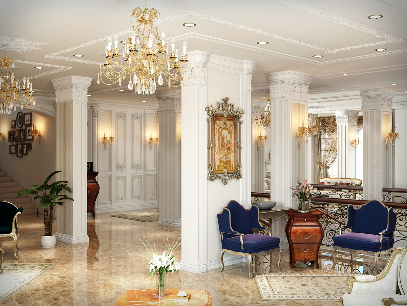طراحی داخلی ویلا کلاسیک