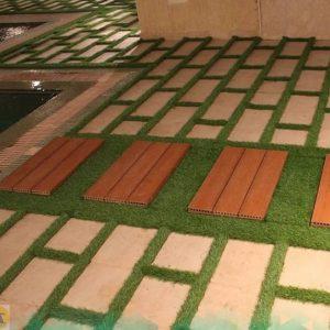 محوطه سازی کف حیاط