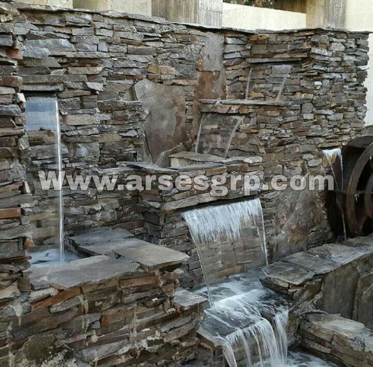 ساخت آبنما صخره ای در کرج