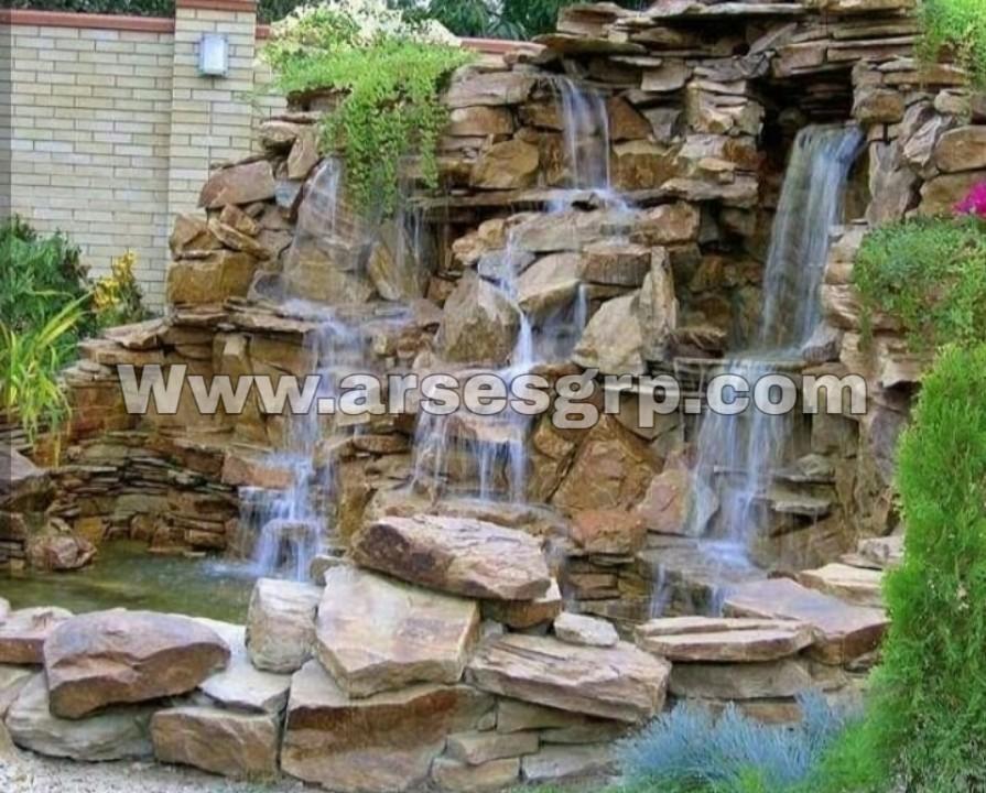 ساخت آبنما صخره ای در کردان
