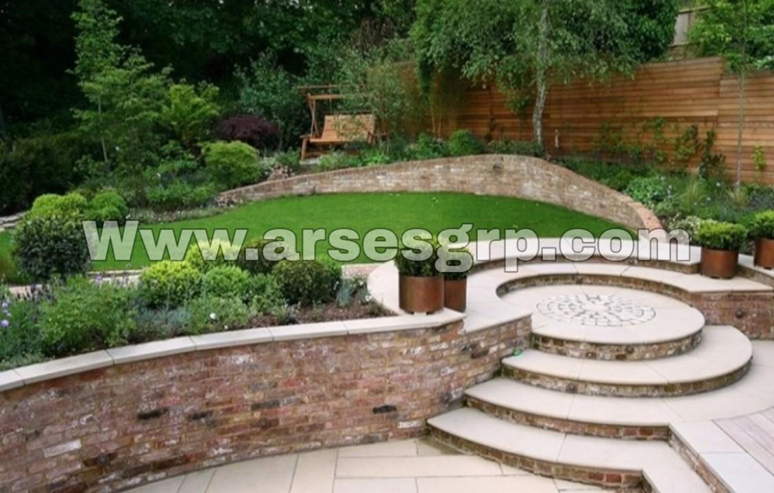 محوطه سازی کلاسیک حیاط