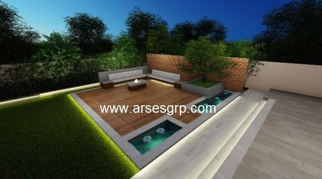 محوطه سازی باغ
