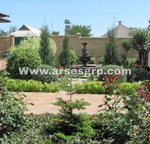 ساخت آبنما در محوطه باغ