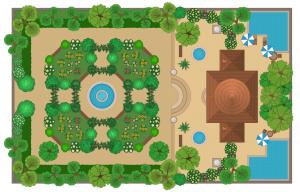 اینوگرافی طراحی یک باغ