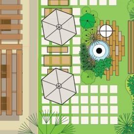 طراحی پلان محوطه سازی هتل