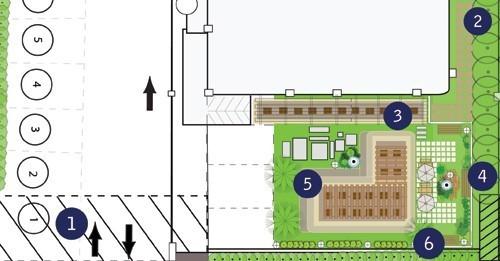 پلان محوطه سازی هتل
