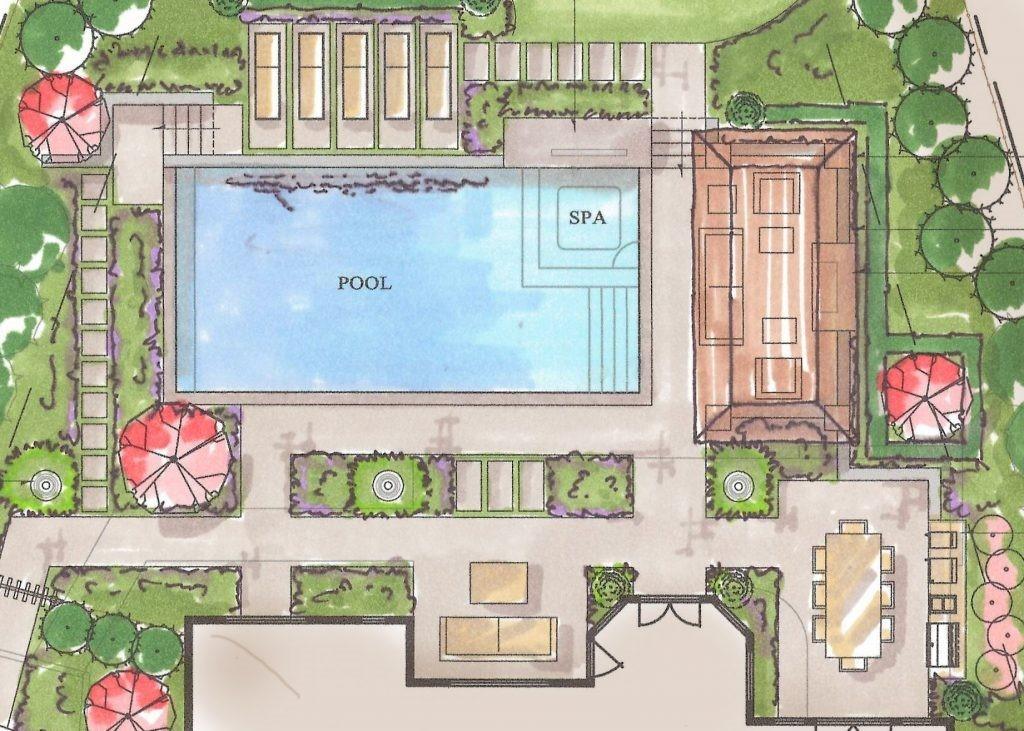 هزینه پلان محوطه سازی هتل