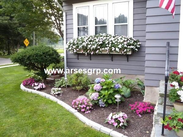 پلان محوطه سازی حیاط کوچک
