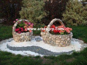 طراحی محوطه باغ با سنگ