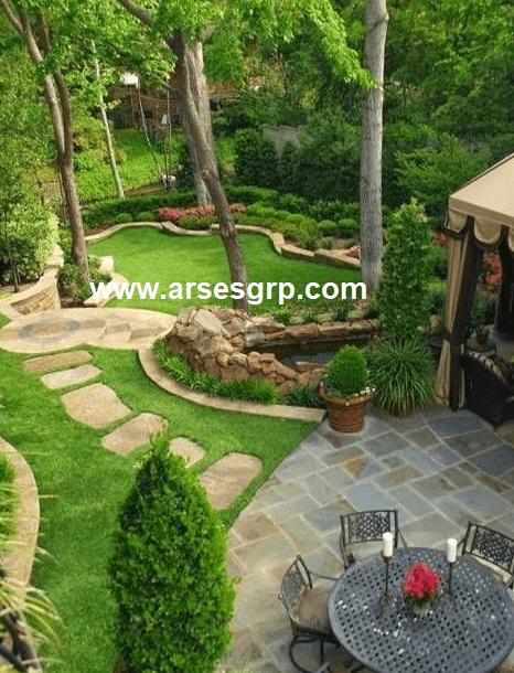 محوطه سازی باغ در سهیلیه
