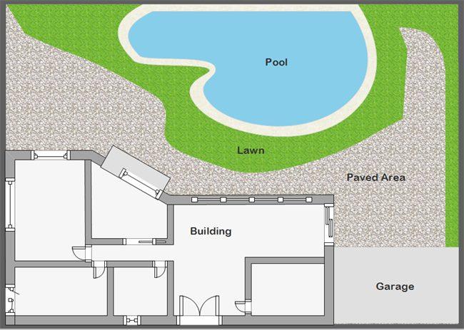 پلان محوطه سازی باغ