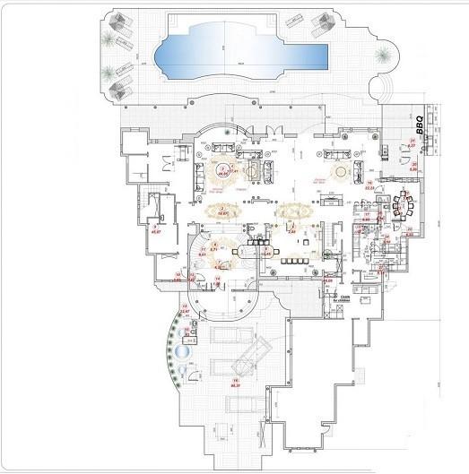 طراحی پلان محوطه سازی ویلا