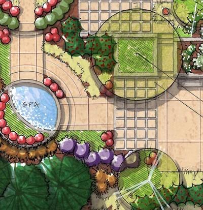 پلان محوطه سازی باغ شهری