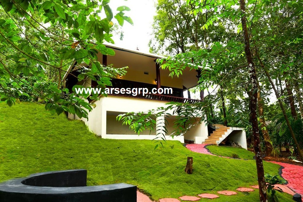 محوطه سازی حیاط ویلا