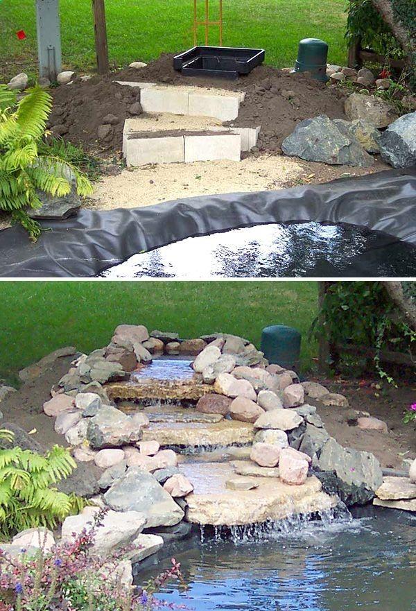 ساخت آبنما با سنگ