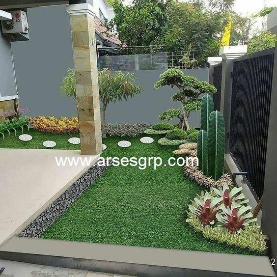محوطه سازی باغچه در حیاط