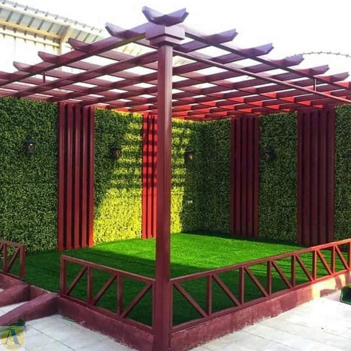 محوطه سازی با چمن