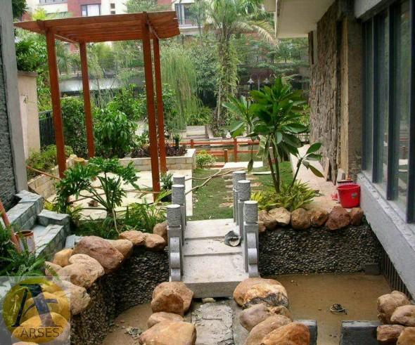 محوطه سازی حیاط آپارتمان