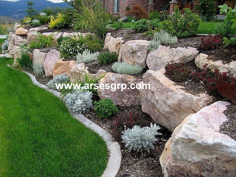 طراحی و اجرای محوطه سازی مدرن باغ
