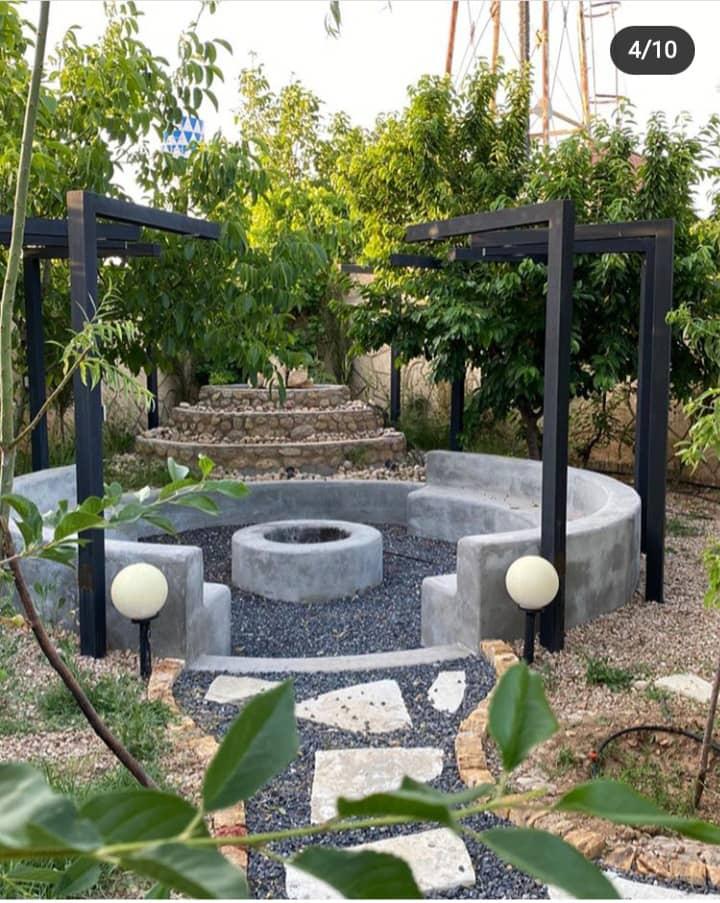 محوطه سازی باغ در تهران