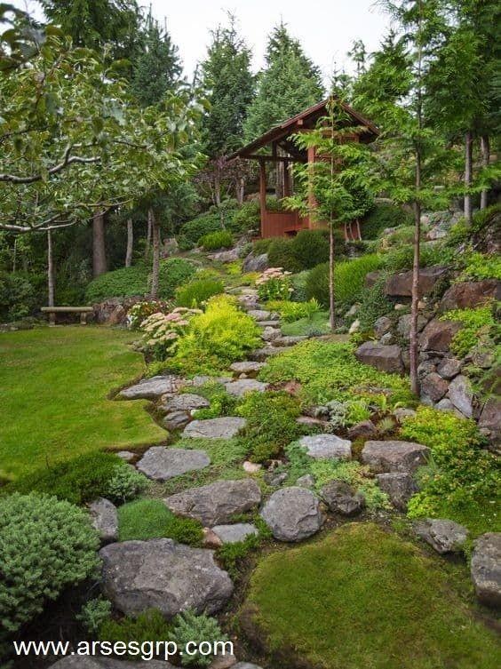 اصول محوطه سازی باغ