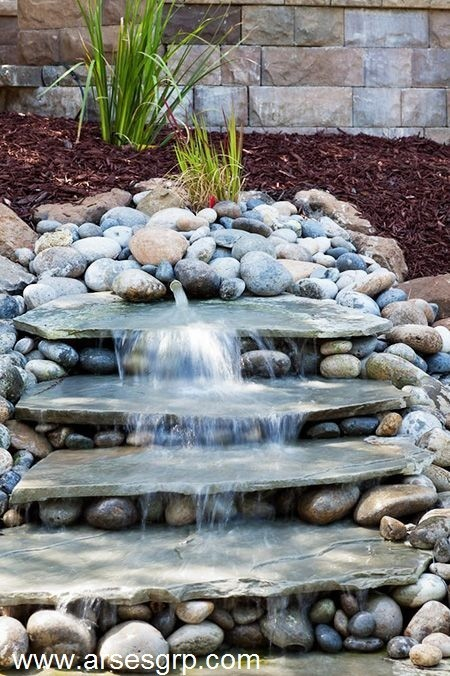 ساخت آبنما با سنگ قلوه