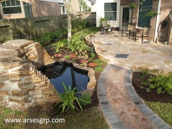 ایده طراحی محوطه باغ