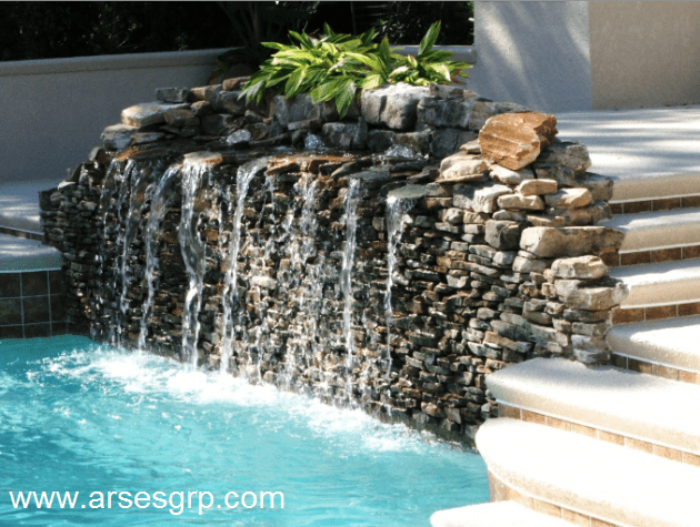 fancyhomedesign. net small swimming pool designs for small yard swimming pool water fountain design ideas small swimming pool  630x475 1 - طراحی آبنما به صورت 0 تا 100 چقدر هزینه دارد
