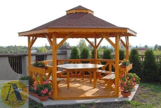 ساخت الاچیق با کمترین هزینه در حیاط ویلای خود