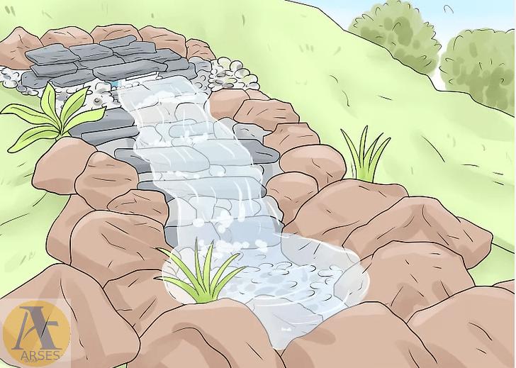 پایان ساخت آبنما