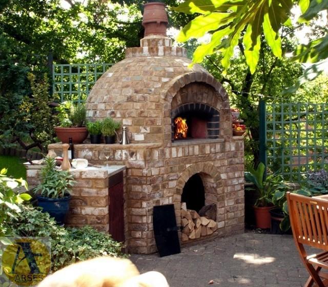 ساخت باربیکیو در باغ