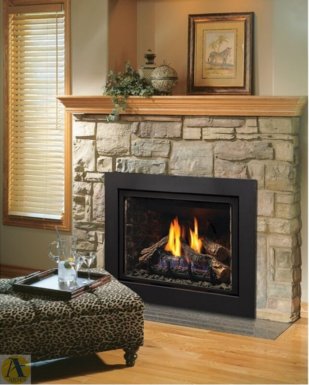 direct vent natural gaspropane fireplace insert - شومینه هیزمی مدرن