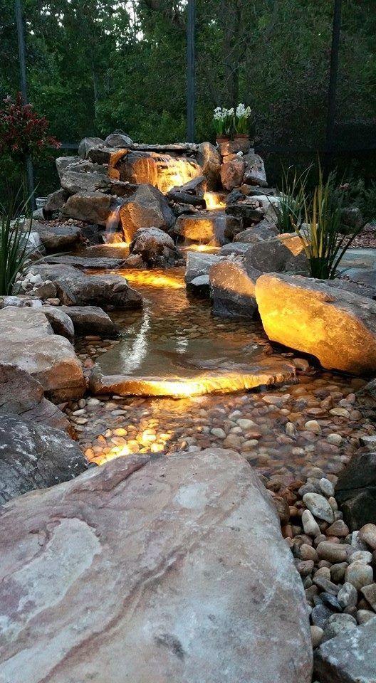 ساخت آبنما صخره ای مدرن