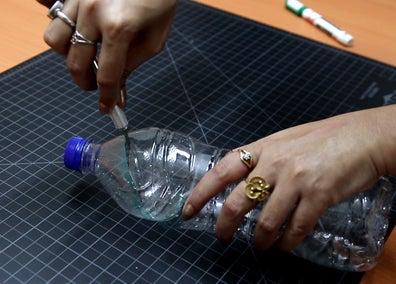 ساخت آبنما خانگی با بطری