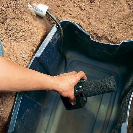 مرحله 3 ساخت آبنما سنگی