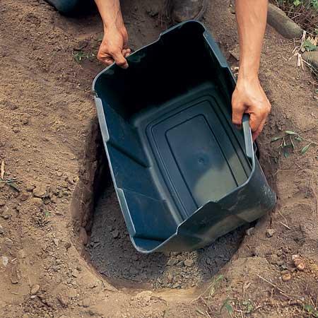 مرحله دوم ساخت آبنما سنگی