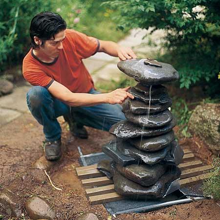 ساخت آبنما سنگی مدرن