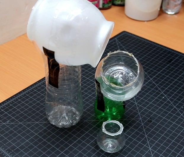 ساخت آبنما خانگی با بطری آب