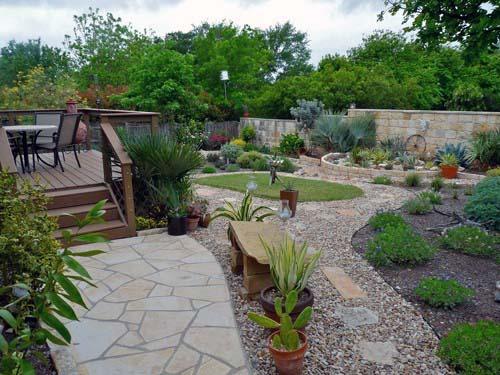 طراحی باغ با سنگ