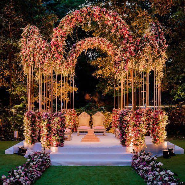 محوطه سازی تالار عروسی