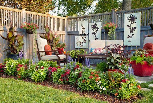 محوطه سازی فضای سبز با گل و گیاه