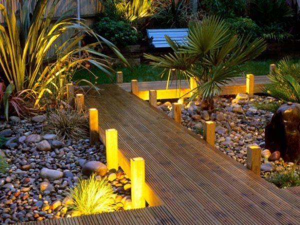 روشنایی در محوطه سازی