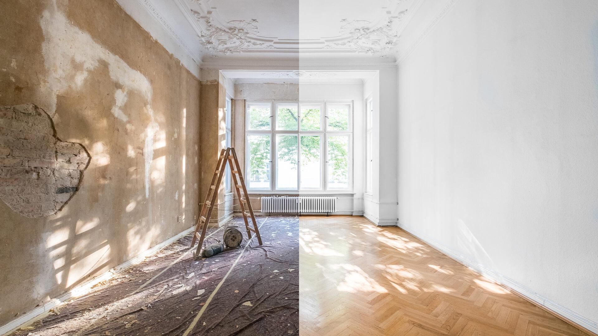 بازسازی داخلی ساختمان